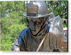 Acrylic Print featuring the photograph Wisconsin State Firefighters Memorial 3  by Susan  McMenamin