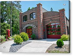 Acrylic Print featuring the photograph Wisconsin State Firefighters Memorial 6 by Susan  McMenamin