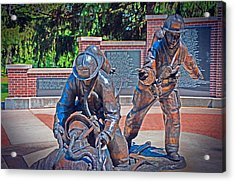 Acrylic Print featuring the photograph Wisconsin State Firefighters Memorial Park 2 by Susan  McMenamin