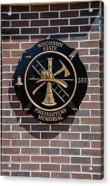 Acrylic Print featuring the photograph Wisconsin State Firefighters Memorial Park 5 by Susan  McMenamin