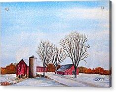Wisconsin Winter Acrylic Print by Thomas Kuchenbecker