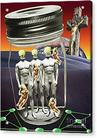 Wise Men 2.0 2011 Acrylic Print by Keith Dillon