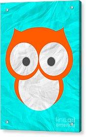 Wise Owl Acrylic Print by Henrietta Buwalda