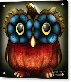 Wise Pumpkin Owl Acrylic Print