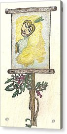 Acrylic Print featuring the drawing Wish And Tell by Kim Pate