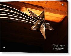 Wish Upon A Shooting Star Acrylic Print by Linda Shafer