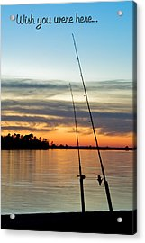Wish You Were Here Acrylic Print by Jeff Abrahamson