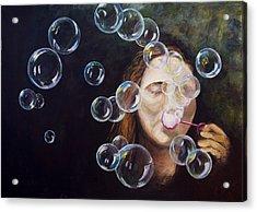 Wishing Bubbles Acrylic Print