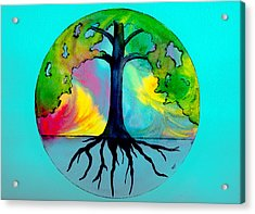 Wishing Tree Acrylic Print by Brenda Owen