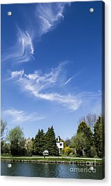 Wispy Clouds Above The River Cam Acrylic Print by Keith Douglas