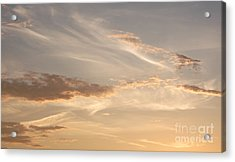 Acrylic Print featuring the photograph Wispy Sunset by Debi Dmytryshyn