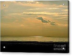 Wispy Sunset Acrylic Print by Jim Gillen