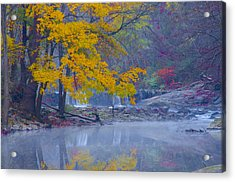 Wissahickon Morning In Autumn Acrylic Print by Bill Cannon