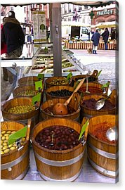 Wissembourg Markets Acrylic Print by Marty  Cobcroft