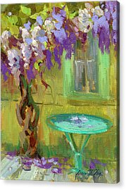 Wisteria At Hotel Baudy Acrylic Print by Diane McClary