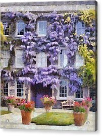 Wisteria Covered House Acrylic Print by Desmond De Jager