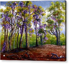 Wisteria In Louisiana Trees Acrylic Print