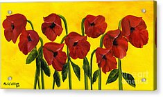 Wistful Poppies Acrylic Print by Maria Williams