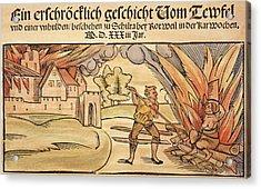 Witch Burning, 1533 Acrylic Print