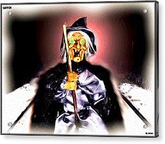 Acrylic Print featuring the digital art Witch by Daniel Janda
