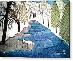 Witchata Falls Winter Acrylic Print by Neil Stuart Coffey