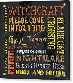 Witchcraft Acrylic Print by Debbie DeWitt