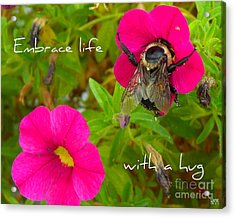 Acrylic Print featuring the photograph With A Hug by Heidi Manly