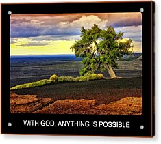 With God Acrylic Print