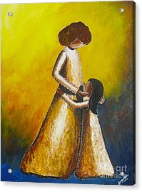 Acrylic Print featuring the painting With Her by Jacqueline Athmann