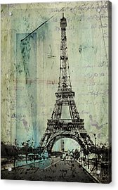 With Love From Paris  Acrylic Print by Steven  Taylor