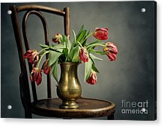 Withered Tulips Acrylic Print by Nailia Schwarz