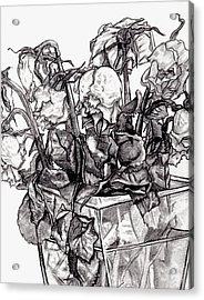 Withering Roses 2012 Acrylic Print by Blake Grigorian