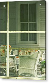 Within The Screened Porch Acrylic Print by Margie Hurwich