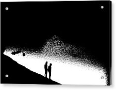 Without Acrylic Print by Nick David
