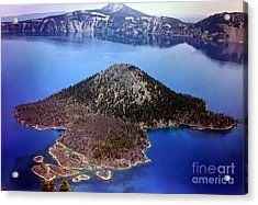 Wizard Island Acrylic Print by Steven Valkenberg