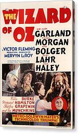 Wizard Of Oz Vintage Movie Poster Acrylic Print