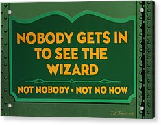 Wizard Sign Acrylic Print by Bill Jonas