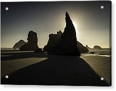 Wizards Hat Bandon Beach Acrylic Print by Jean-Jacques Thebault