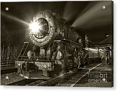 Wmsr Engine 734 At The Frostburg Depot Acrylic Print by Jeannette Hunt