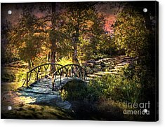Woddard Park Bridge II Acrylic Print by Tamyra Ayles