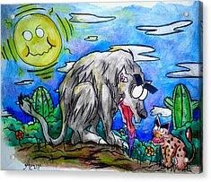 Wolf And Friend Acrylic Print by Adrian  Casanova