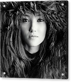 Wolf Girl Acrylic Print