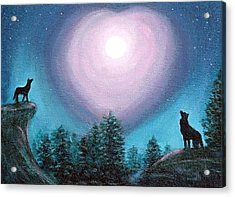Wolf Heart Song Acrylic Print by Fran Brooks