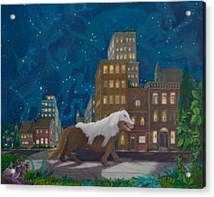 Acrylic Print featuring the painting Wolf In Sheep's Clothing by Matt Konar