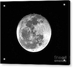 Wolf Moon Waning Acrylic Print by Al Powell Photography USA