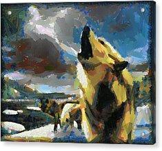 Wolf Pack Acrylic Print by Georgi Dimitrov