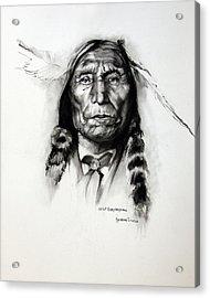 Wolf Robe - Cheyenne Acrylic Print by Synnove Pettersen