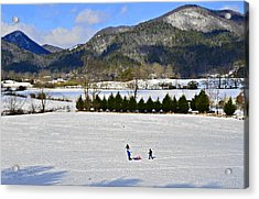 Wolffork Valley Winter Acrylic Print by Susan Leggett