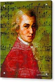 Wolfgang Amadeus Mozart 20140121v1 Acrylic Print
