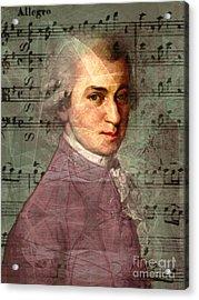 Wolfgang Amadeus Mozart 20140121v2 Acrylic Print